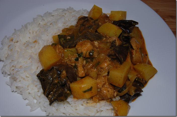 Krůtí Vindaloo Curry