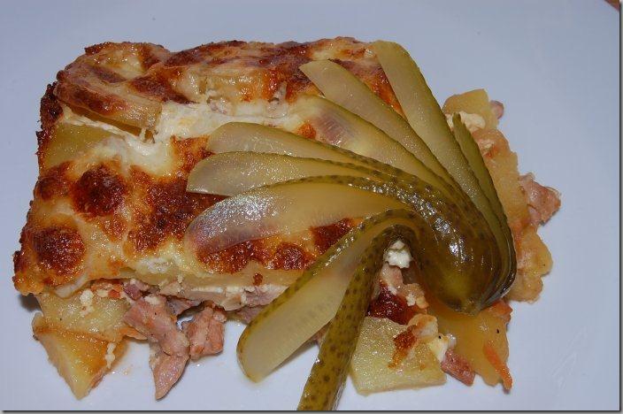 Zapečené brambory s krůtím masem a Mozarellou02_net