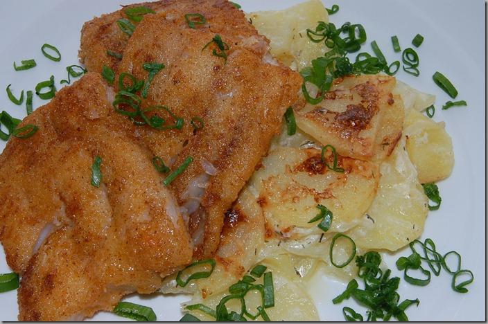 Smetanové brambory s treskou