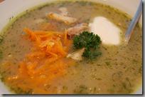 Drůbková polévka s pečeným kuřetem01