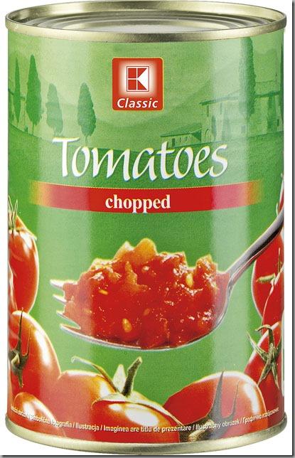 rajčata loupaná krájená