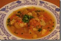 Mrkvová polévka s hlívou a krupicovým drobením
