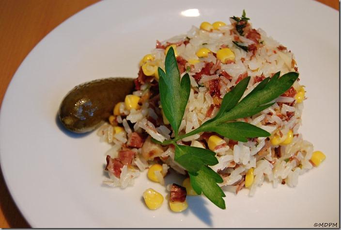 06Smažená rýže s krůtím masem z konfitu
