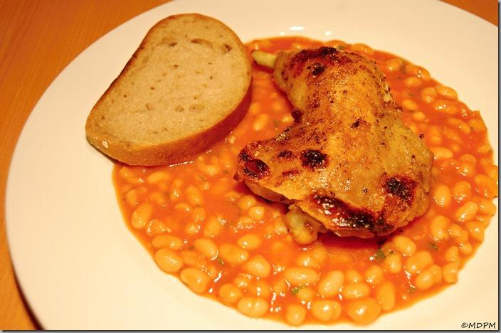 Grilované kuře na fazolích