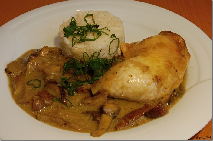 Kuře v hříbkové omáčce01