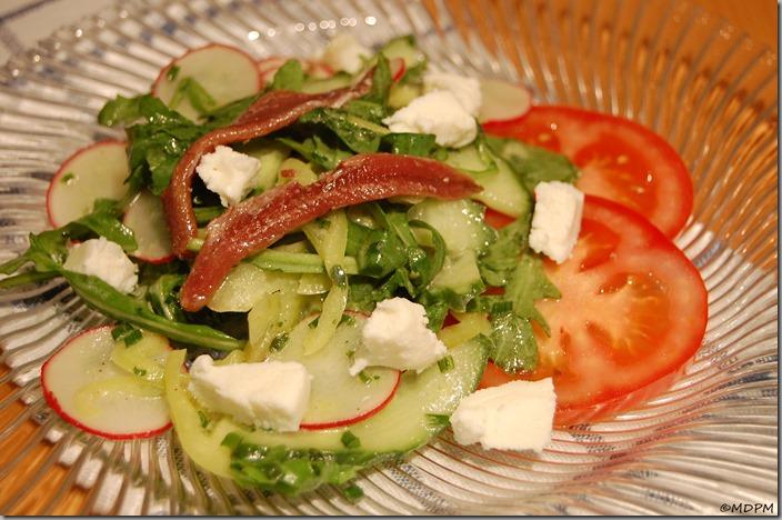 Salát - ančovičky,bryndza01