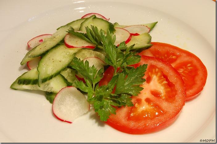 Salát - rajče,okurka,ředkvička