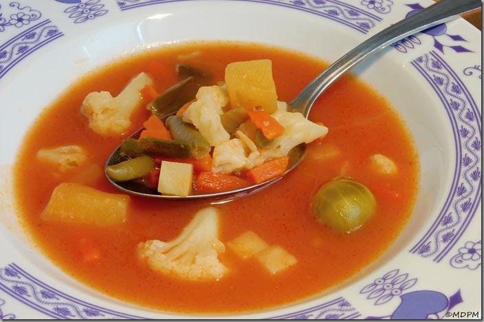 Rajčatová polévka se zeleninou03