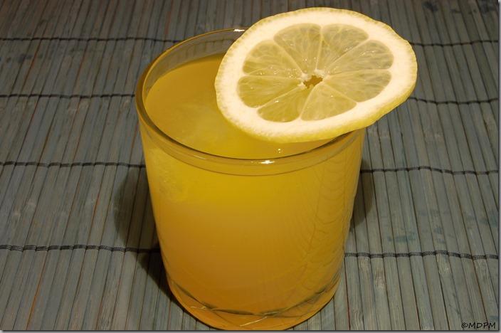pomerančová limonáda, led a citron
