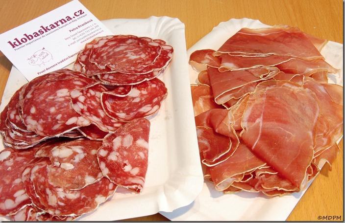 salámy a maso z francie
