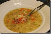 Zapražená polívka se zeleninou a hovězím