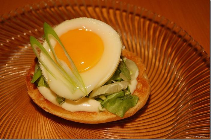 forma na vajíčka Ibili - toust s majonézou, salátem a vajíčkem
