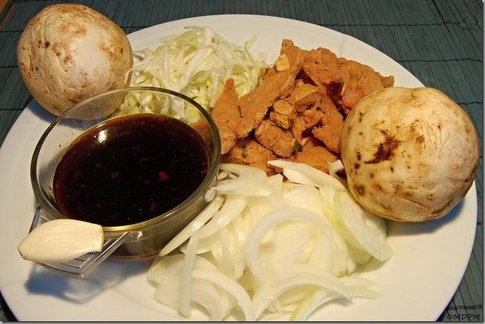 čína pro vegetariány - příprava