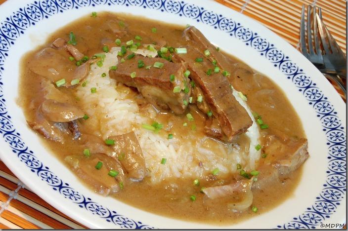 02-hovězí žebro a rýže