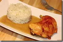 04-Nakládaná kuřecí stehna a rýže s rukolovým pestem