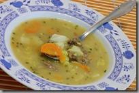 01-zapražená zeleninová polévka s vařeným masem