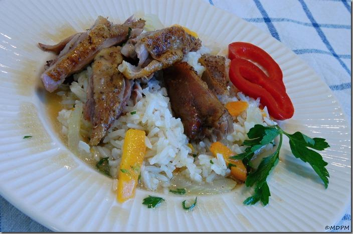 10-pečená kachna a zeleninová rýže
