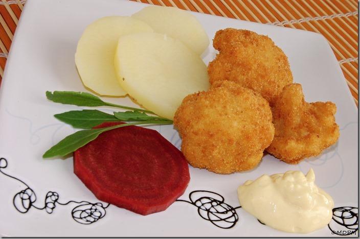 smažený květák,brambor,kvašená řepa,majonéza domácí,rukola